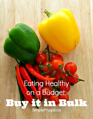 Buy in bulk to save. Grocery saving tips. Eating healthy on a budget