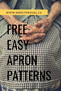 This list of free and easy apron patterns is fantastic! Free apron patterns | free sewing patterns | Easy free apron patterns | Kids apron patterns #freeapronpatterns #apronpatterns #sewingpatterns #easypatterns #easyapronpatterns