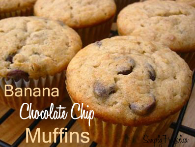 These are seriously the best Banana Chocolate Chip muffins ever! #muffins #bananamuffins #breakfast #snacks