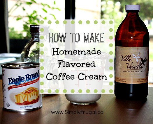How to make homemade flavored coffee cream!