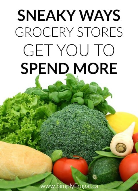 How many items do you come home with from the grocery store that you didn't intend on buying? Here are some Sneaky Ways Grocery Stores get you to Spend More.