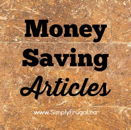 Money Saving Articles