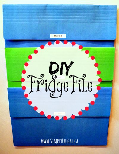 Take your paper organization up a notch with this DIY Fridge File! Perfect for papers you have to frequently access.