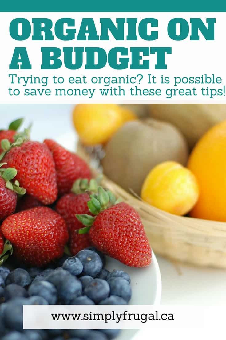 Trying to eat organic? It is possible to save money on your grocery bill with these great tips! #organic #grocerytips #groceryshopping #budget
