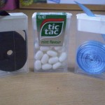 Organization – Use a Tic Tac Container as a Ribbon Dispenser