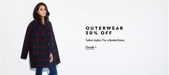 Reitmans: 30% Off Outerwear