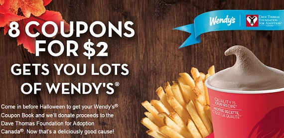 wendys coupon booklets