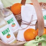 A Homemade Christmas Gift: All Natural Candle and Cleaner Gift Basket