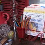 Organizing Idea – Use a Dish Drainer as a Desk Organizer