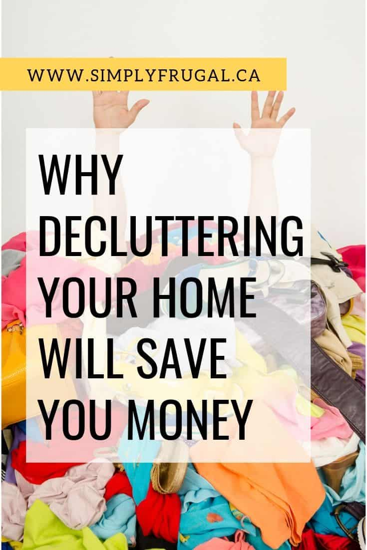 I needed a bit more motivation to declutter my home and this post was just what I needed. I love the idea that I can declutter and save money in the long run!