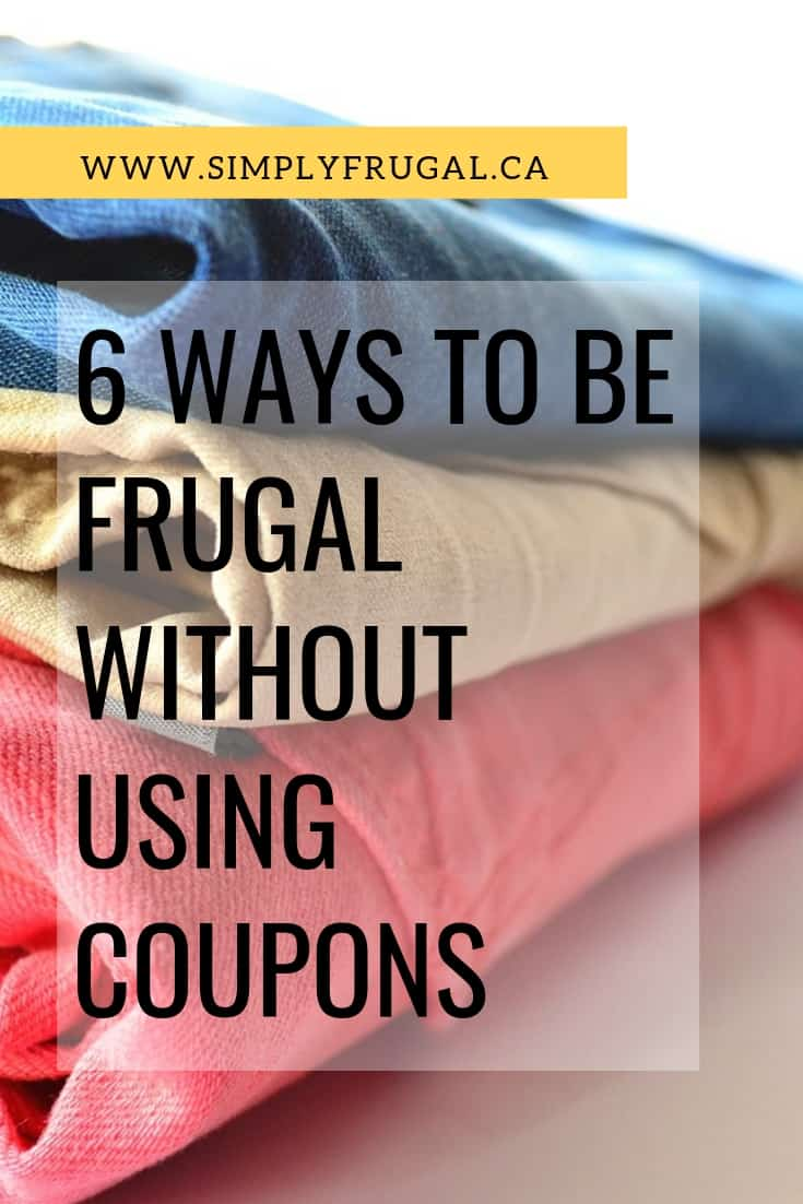 Here are some ideas to save money without using coupons! After all, I personally think coupon usage is a very small aspect of frugal living.