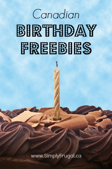 canadian birthday freebies