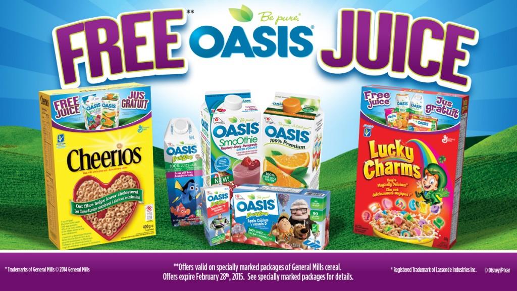 general mills free oasis juice