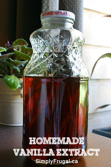 made some homemade vanilla extract!! I had been meaning to make ...