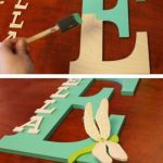 A Homemade Christmas Gift: Wooden Letter Names