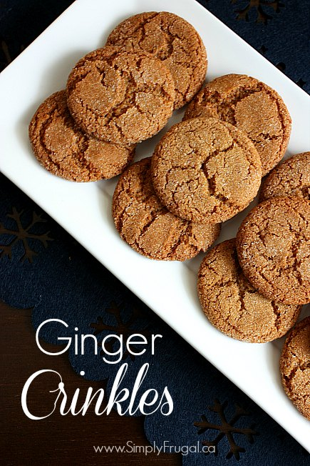 These Ginger Crinkles rank among one of my all time favourite cookies, especially at Christmas time! They're chewy, perfectly spicy and delicious!