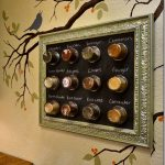 DIY: Framed Magnetic Chalkboard Spice Rack