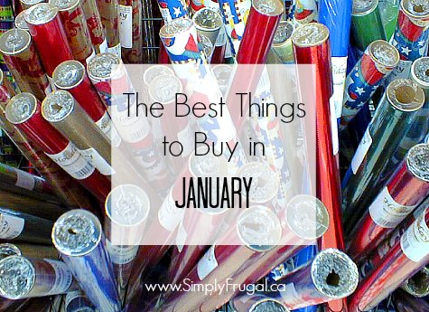 Best Things to Buy in January