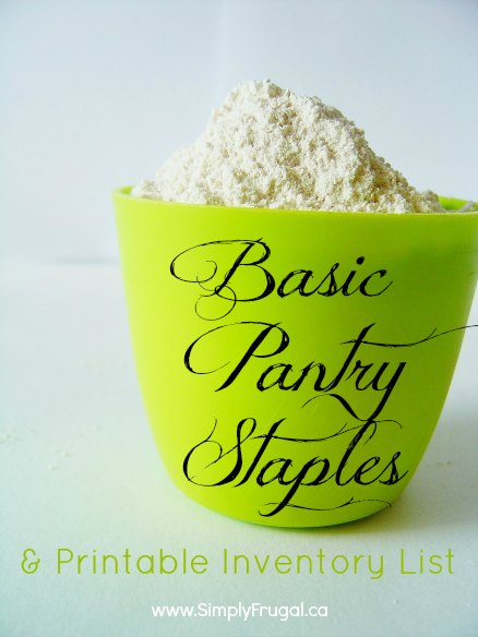 graphic relating to Pantry Staples List Printable named Easy Pantry Staples Record (and a No cost Printable)