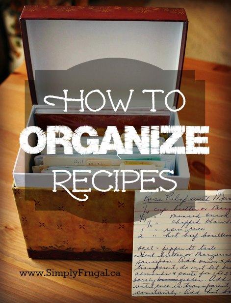 How to organize recipes. Recipe organization