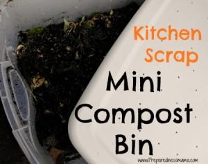 How to make a mini compost bin
