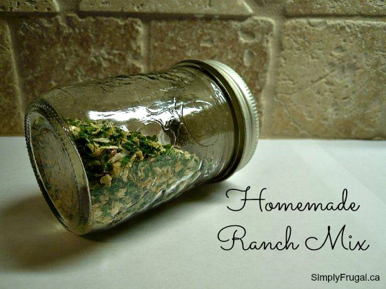 Homemade Ranch Mix recipe