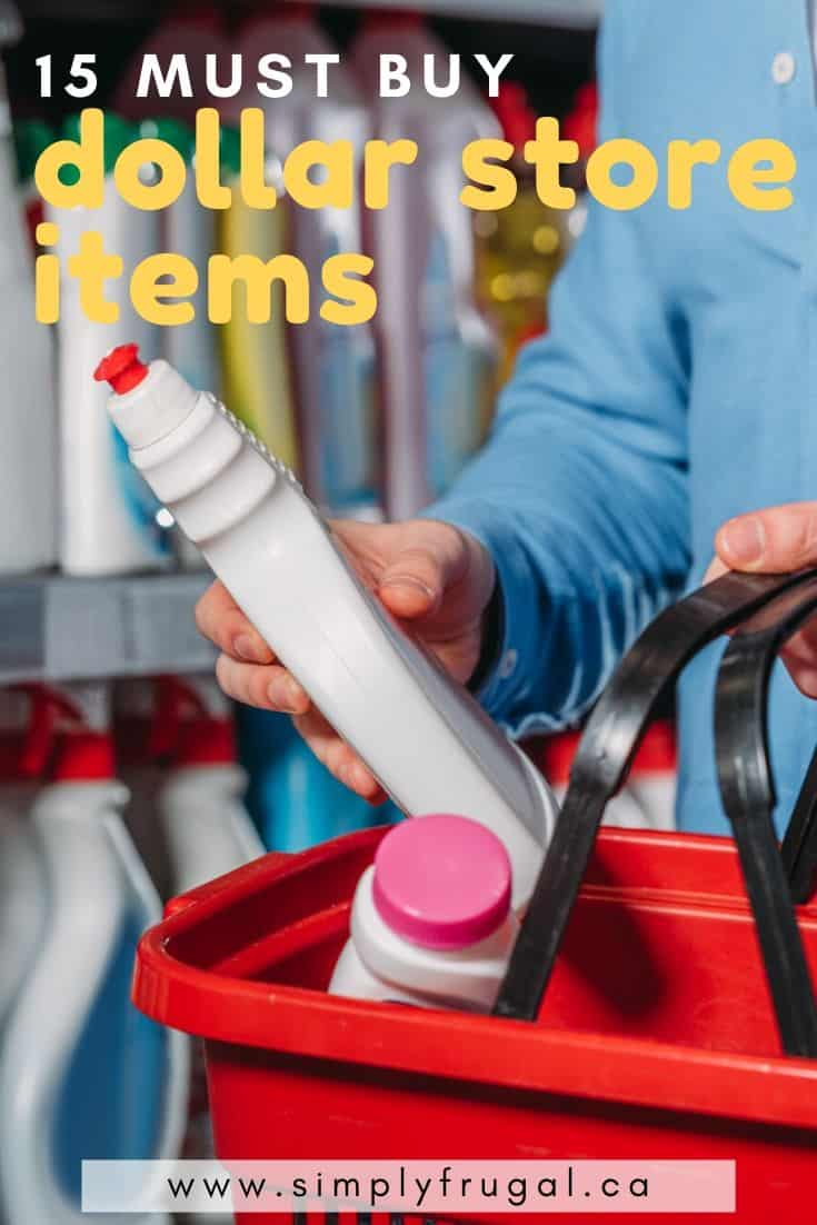 Must buy dollar store items. 15 dollar store items that you should add to your shopping list to save money. #dollarstore #shoppingtips #dollartree #simplyfrugal #bargain