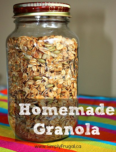 Sprinkling some homemade granola over yogurt and eating it, can be a delicious way to start your day! Here's the recipe for homemade granola!