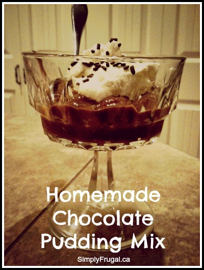 Homemade Pudding Mix