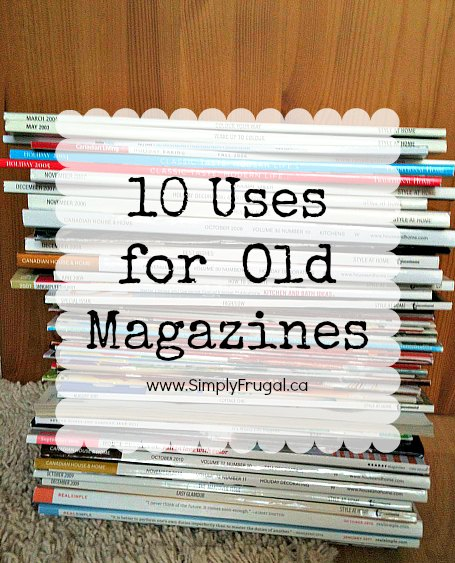 10 uses for old magazines for How to recycle old magazines