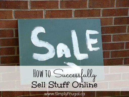 "How to Sell Stuff Online - great tips for selling items via Craigslist/Kijiji, eBay and Facebook. Post includes a free printable ""stuff for sale"" list!"