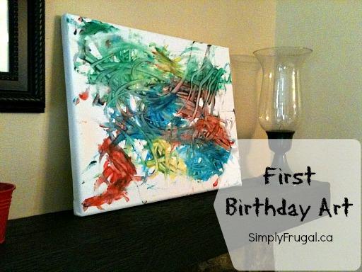 First Birthday Art