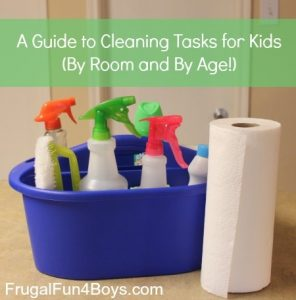 cleaning tasks for kids