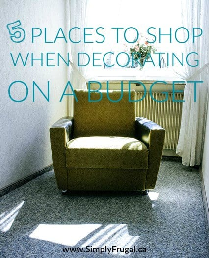 So you want to decorate. The thing is, the piggy bank is pretty empty. However, there are plenty of ways to decorate on a budget, especially if you know where to shop.