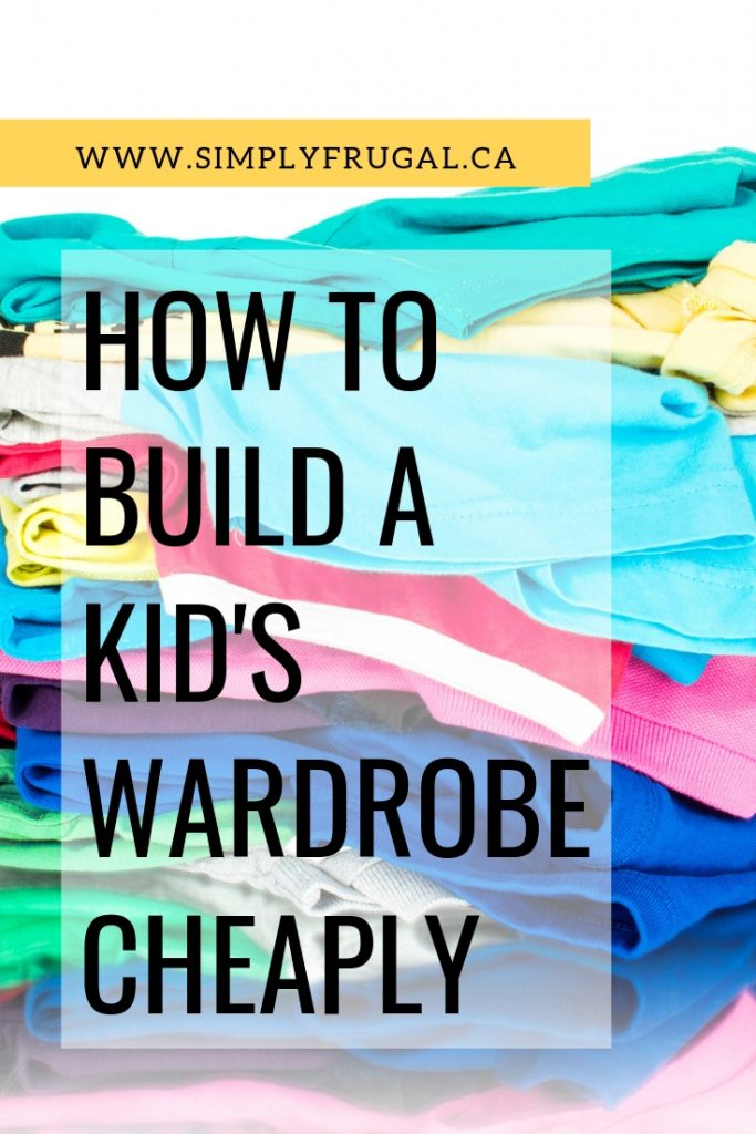 Fantastic tips on how to build a kid's wardrobe cheaply.