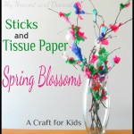 DIY Project – Tissue Paper Blossoms Kids Craft