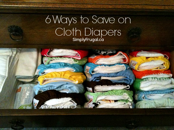 Ways to save on cloth diapers