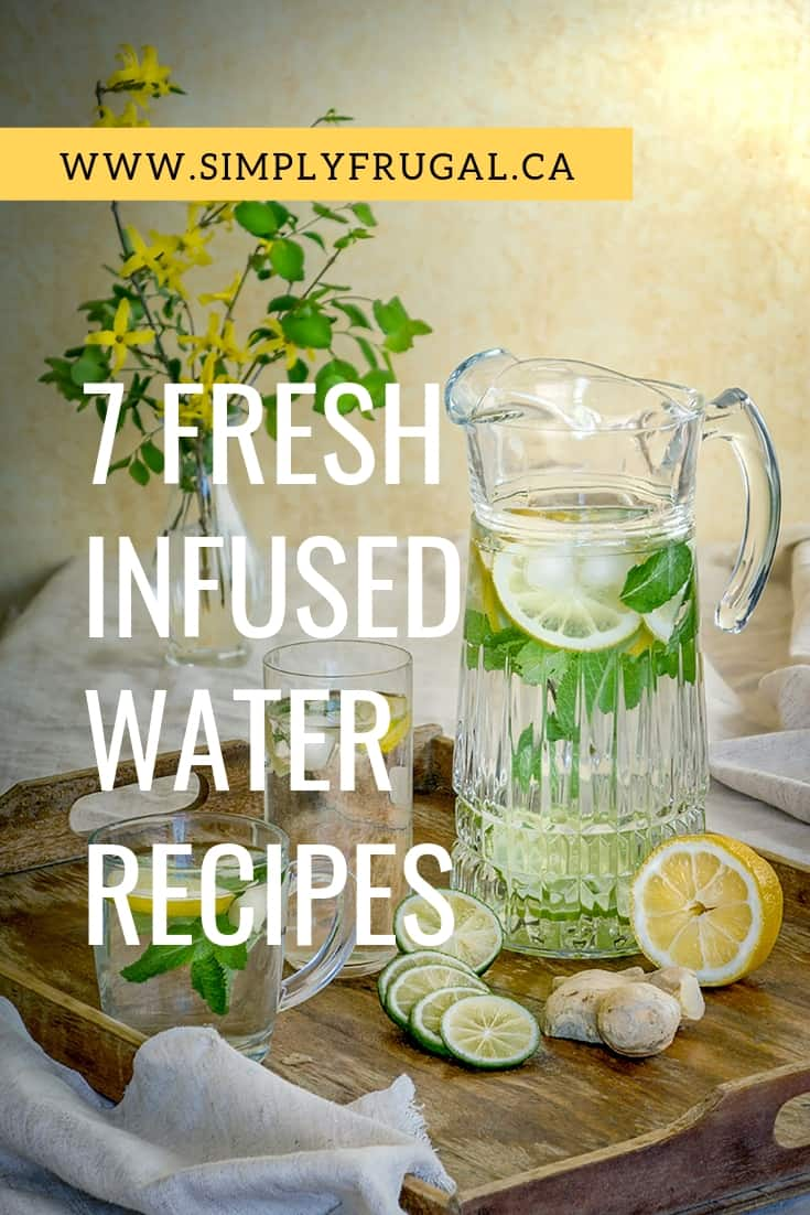If you are tired of the same old ice water, give one of these 7 fresh infused water recipes a try! You will love how tasty they can make your glass of water, and you might find yourself enjoying more than the recommended eight glasses a day.