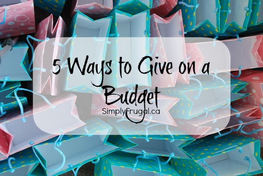 ways to give on a budget
