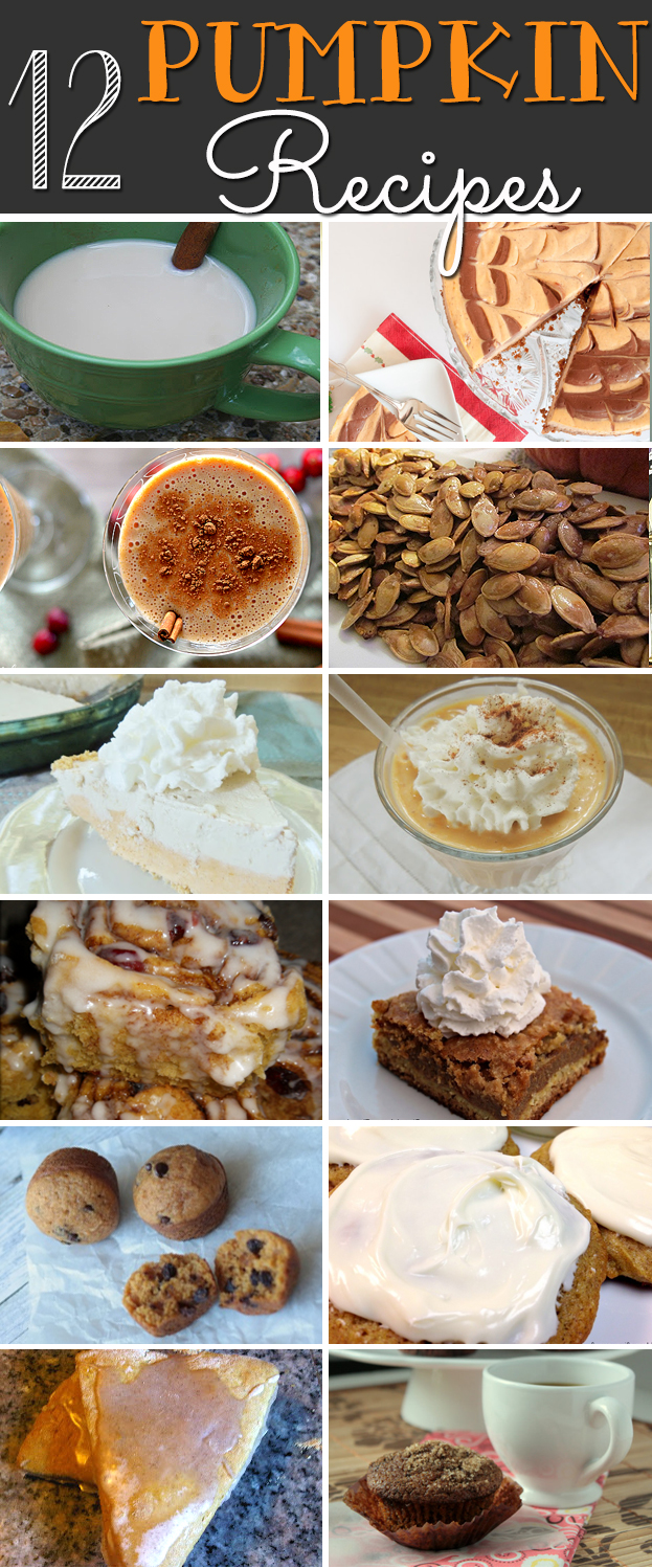 12 pumpkin recipes