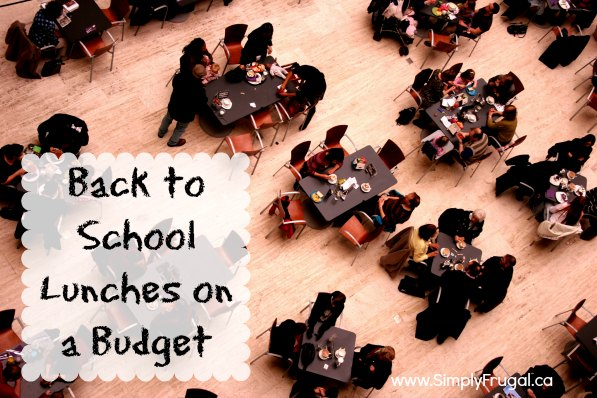 Back to School Lunches on a Budget