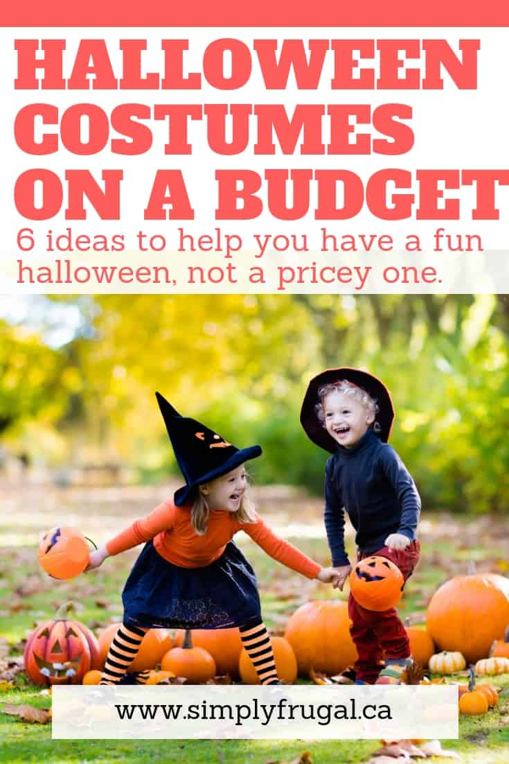 Halloween costumes on a budget: 6 ideas to help you have a fun halloween, not a pricey one. #halloween #halloweenideas #halloweencostumes