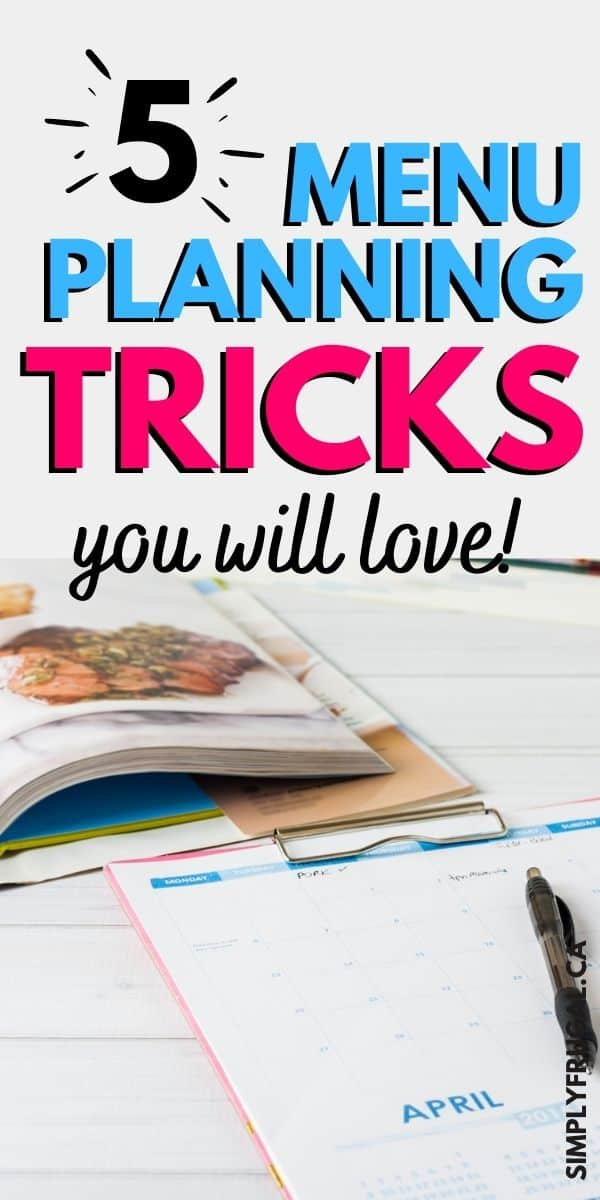 Menu planning tips and tricks