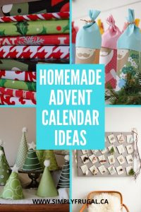 Is making some sort of advent calendar on your Christmas to do list?  Here are 10 homemade advent calendar ideas to get you started!