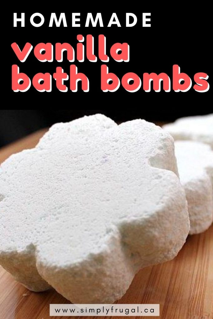 This is a great recipe for making homemade vanilla bath bombs! These Bath Bombs are made with all natural ingredients for a relaxing and fragrant bath when you're craving a spa-like experience.