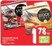 campbells stock first deal