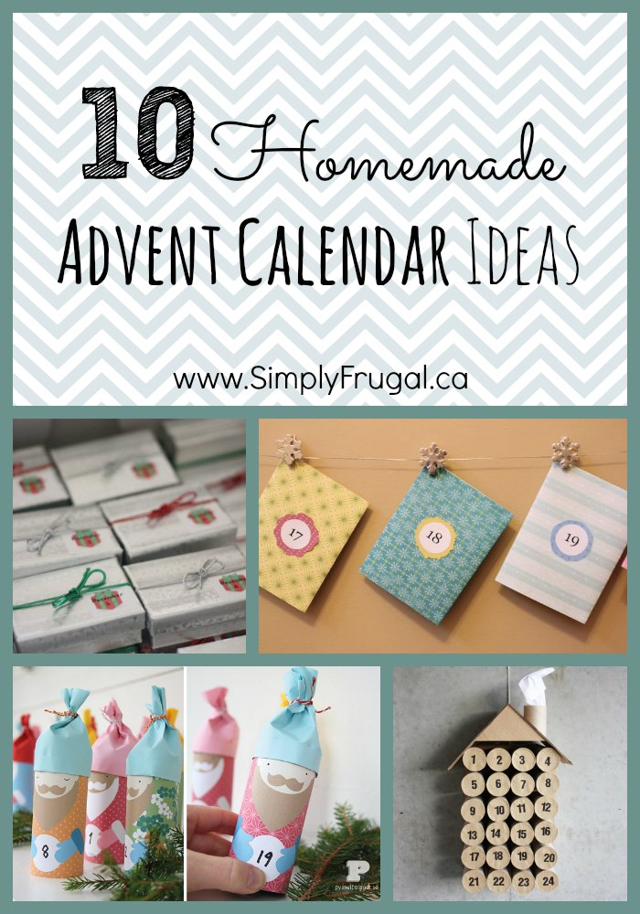 Homemade advent calendar ideas for Diy christmas advent calendar ideas