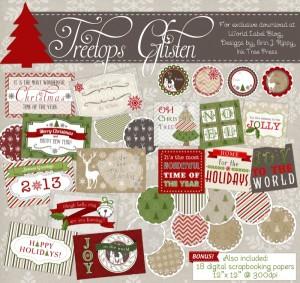 Christmas-label-templates