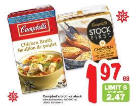 campbells stock first sale