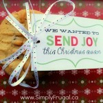 These soft peanut butter cookies are delicious and sure to be a hit! You'll also love the cute printable Christmas tag that is included!